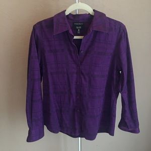 3/$30 Foxcroft Non Iron Shaped Fit Button Down 10